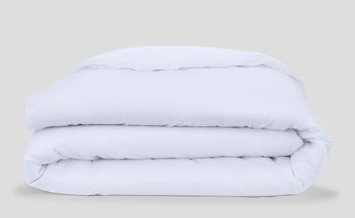 Flannel Duvet Cover, White