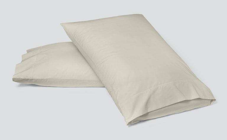 Percale Pillowcase Set, Oatmilk