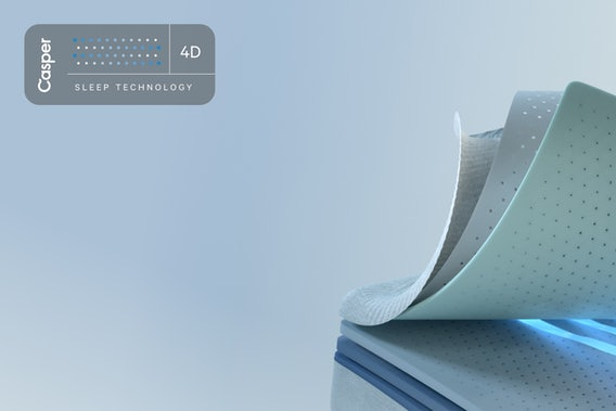 Every Casper mattress lets you experience sleep in 4D.