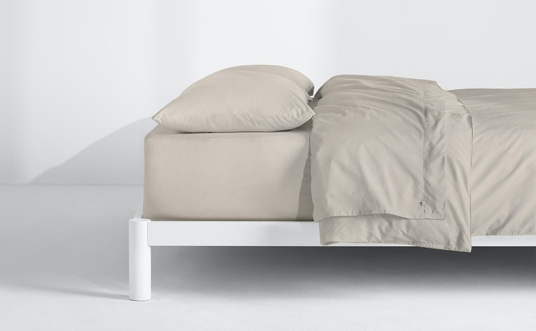 Percale Sheet Set + Duvet Cover, Oatmilk