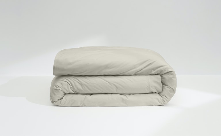 Percale Duvet Cover, Oatmilk