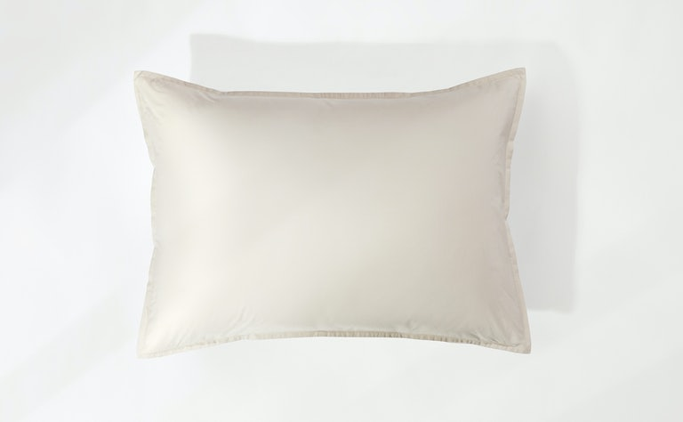 Percale Sham Set, Oatmilk