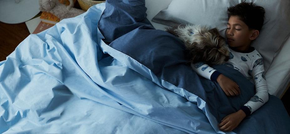 Child sleeping on Casper mattress