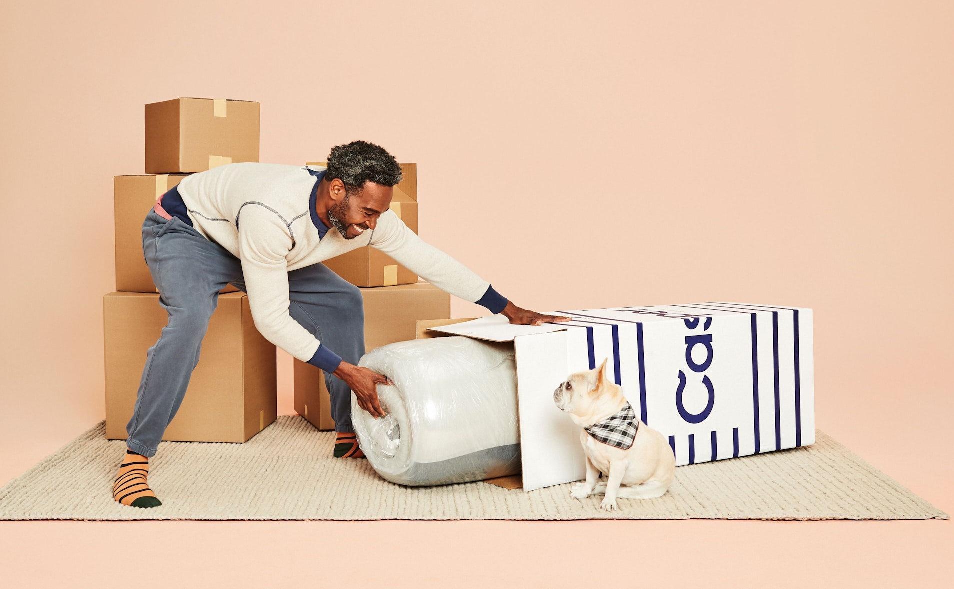 Unboxing a Casper mattress