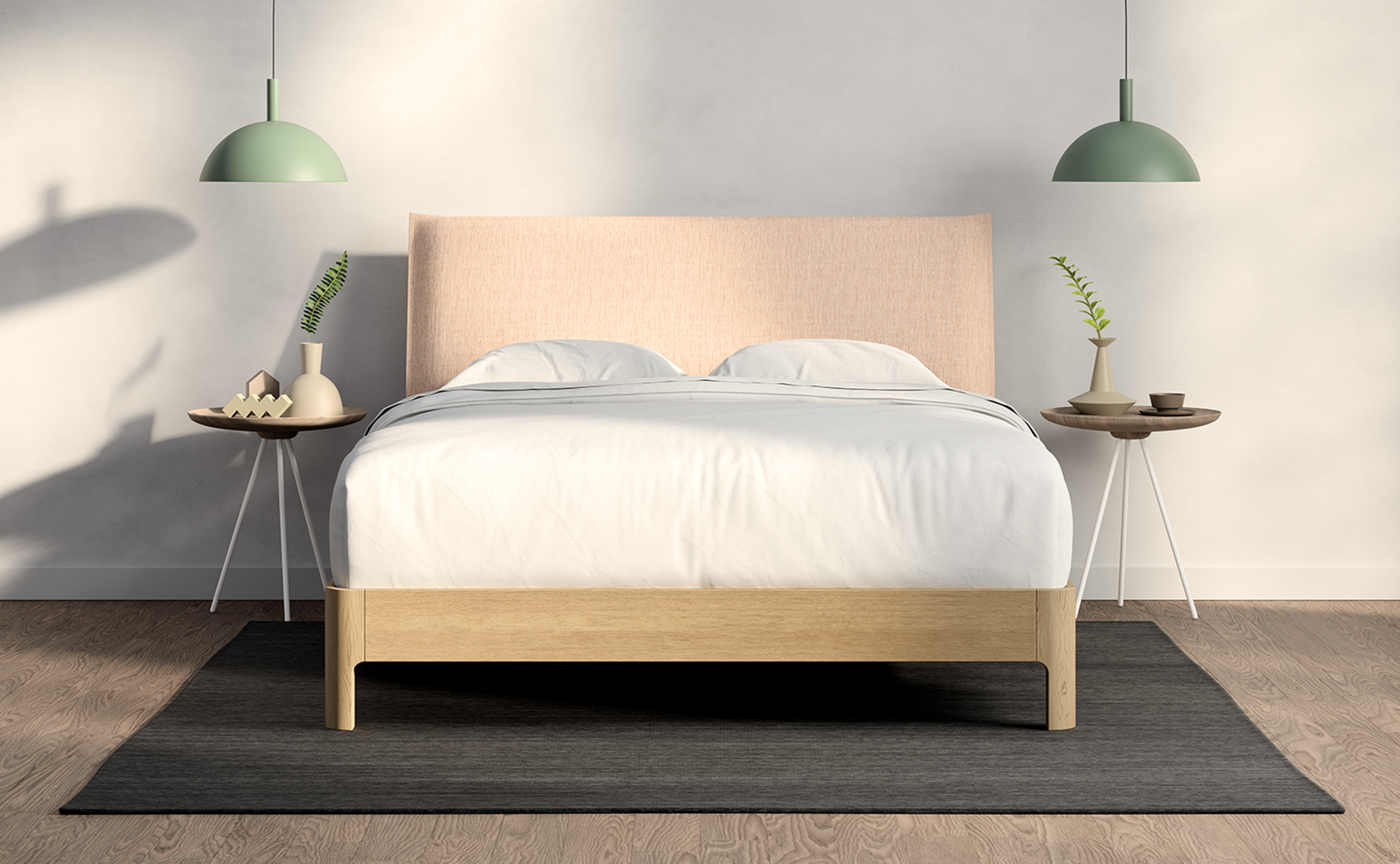 Casper Repose Wooden Bed Frame With Headbord Casper