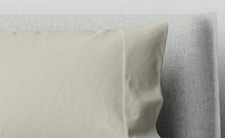 Percale Pillowcase Set, Oatmilk