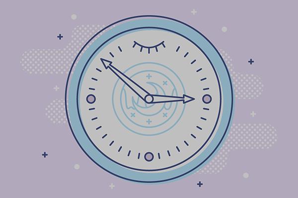 Illustration of a sleeping clock