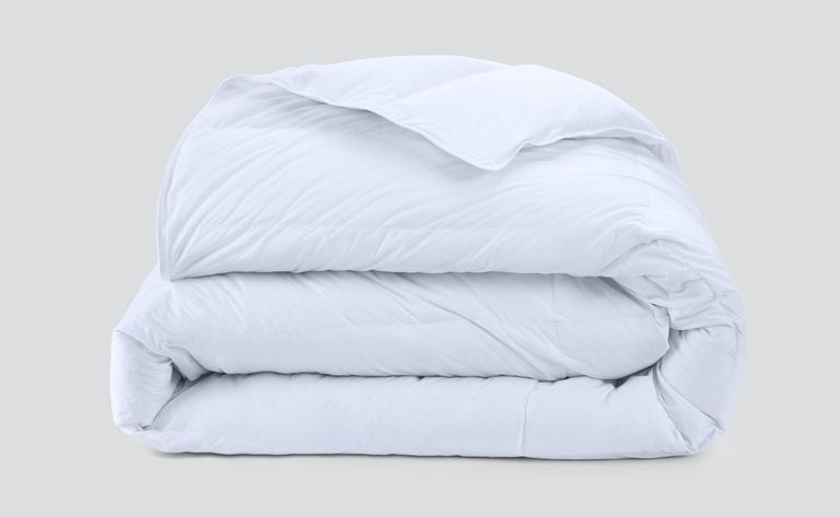 folded down duvet