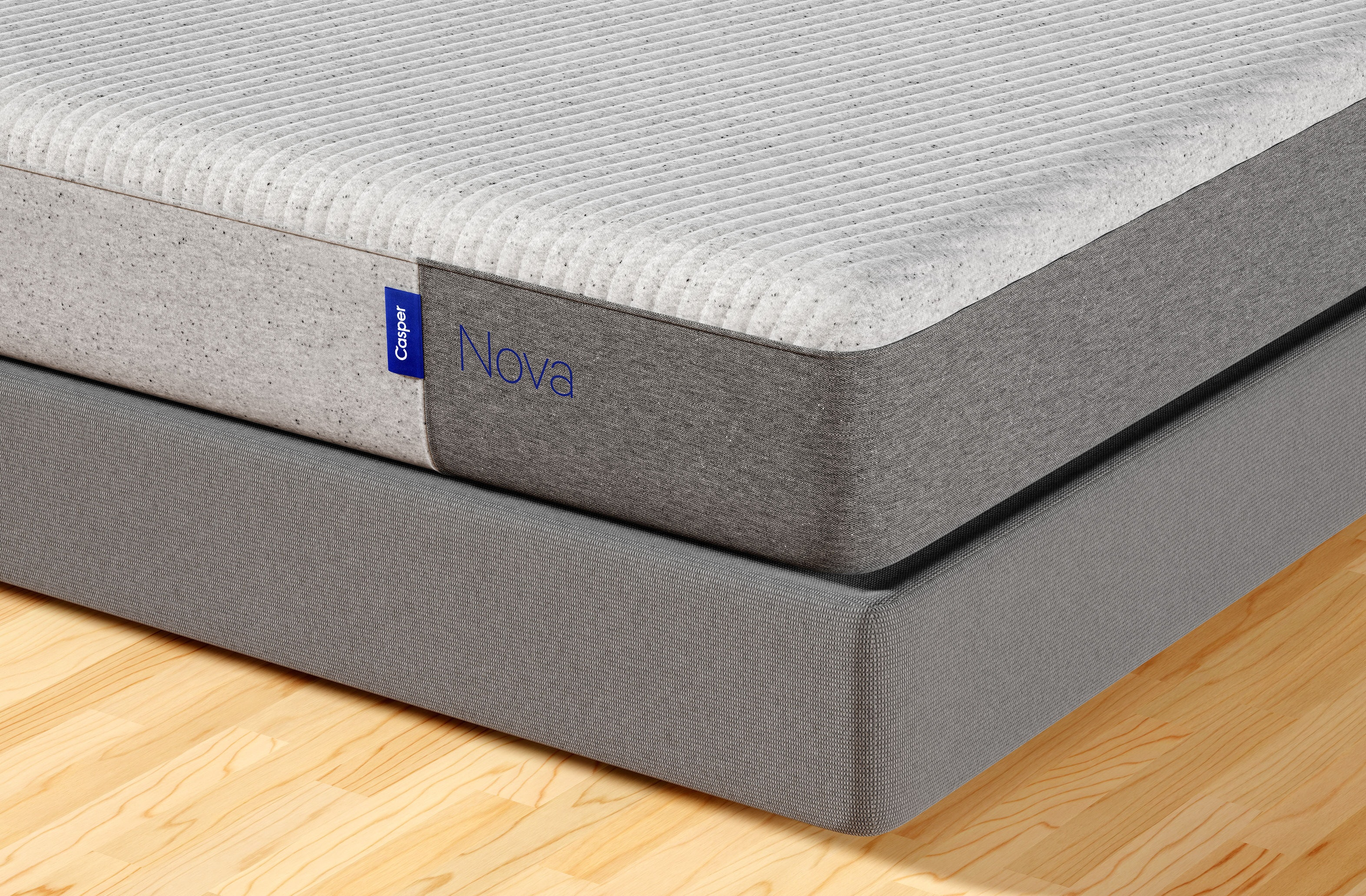 Corner of Casper Nova Foam mattress
