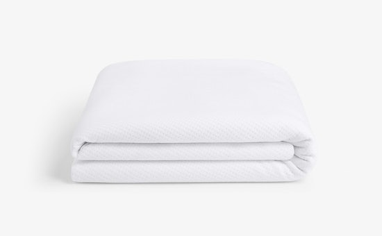Folded mattress protector