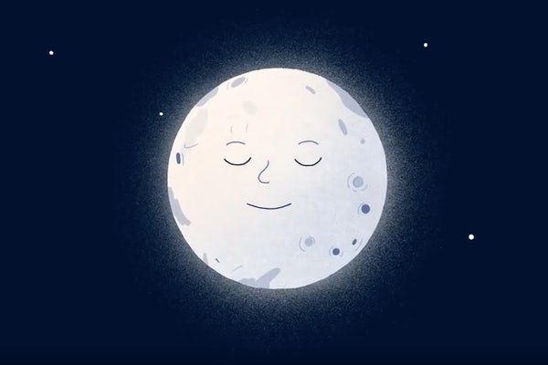 Illustration of smiling moon