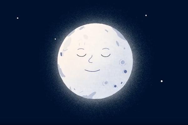 Illustration of smiling moon