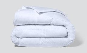 folded lightweight down duvet