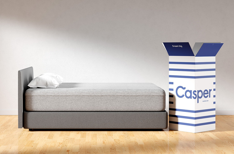 Side view of Casper Wave mattress