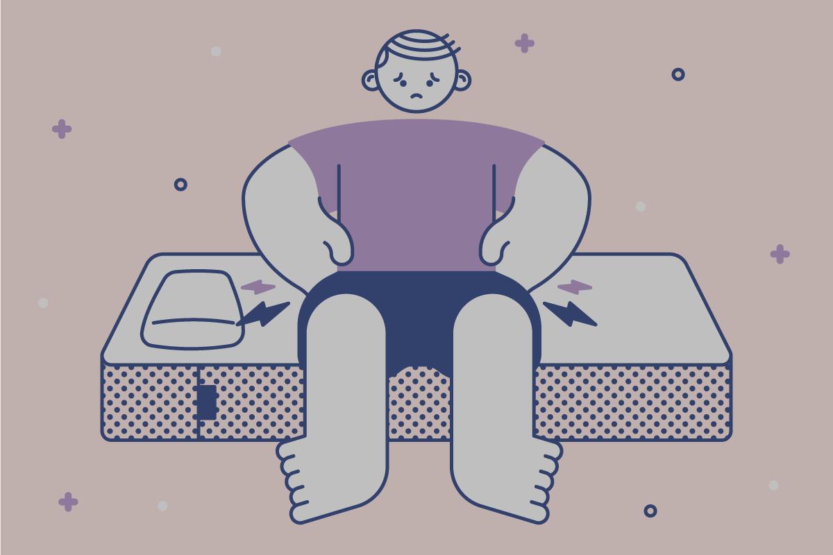 Illustration of person sitting on Casper mattress