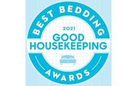 Good Housekeeping Best Bedding Award 2021 Badge
